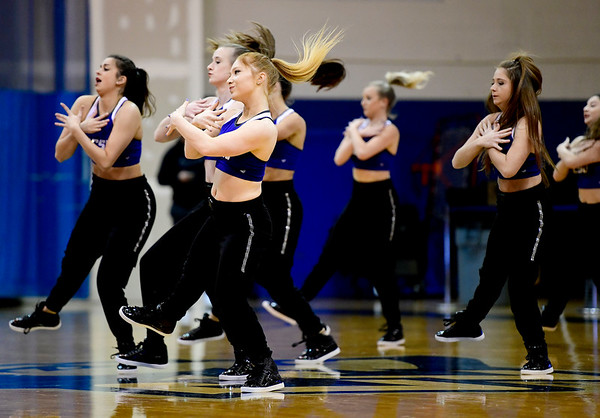 3/2/2019 Mike Orazzi | Staff Members of the CCSU Dance Team during Saturday's Mens basketball game with Fairleigh Dickinson in New Britain.