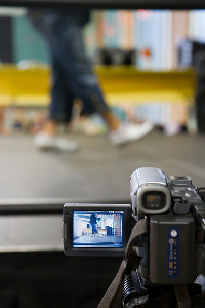 Video taping Kellee's workshop  at Late Harvest Stomp