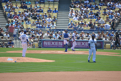 Diamond Backs at Dodgers, Top of the Second, 20 April 2014