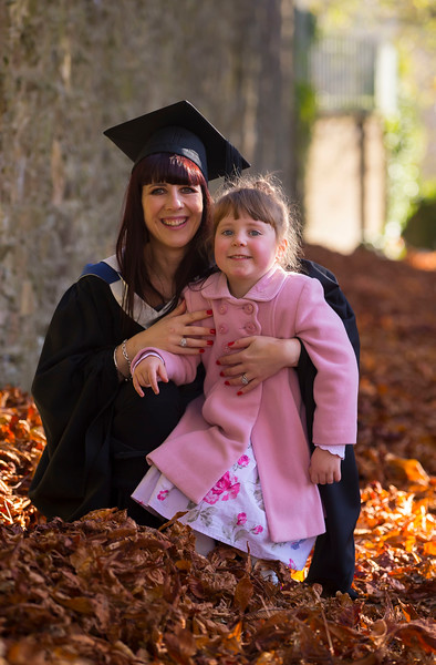 04/11/2016. Waterford Institute of Technology (WIT) Conferring Ceremonies November 2016:  Pictured is Aishling Byron with her daughter Winnie from Cork, Aishling  graduated BSc in Applied Conservation Skills. Picture: Patrick Browne