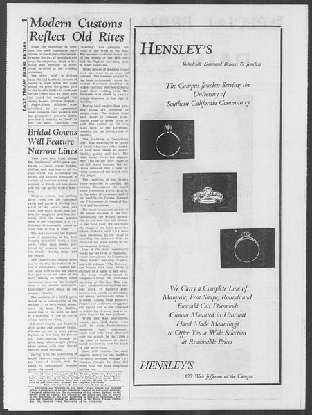 Daily Trojan, Vol. 53, No. 101, April 02, 1962