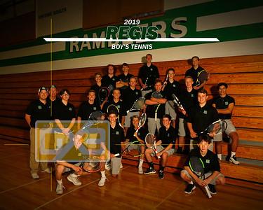 Regis boys' tennis BT19