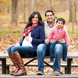 Pooja & Kunal's Fall Family Portraits