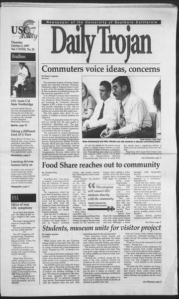 Daily Trojan, Vol. 132, No. 24, October 02, 1997