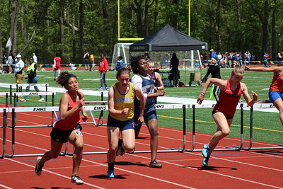 Girls 100m Hurdle Trials and Final
