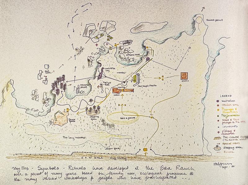 Anna & Lawrence Halprin Sea Ranch Sketch