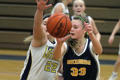 Breckenridge at Valley Lutheran JV basketball 20130121