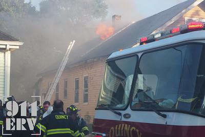 4 Alarm Fire - Hanna St, Quincy, MA - 7/27/2020