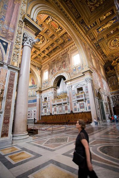 Interior of San Giovanni in Laterano basilica