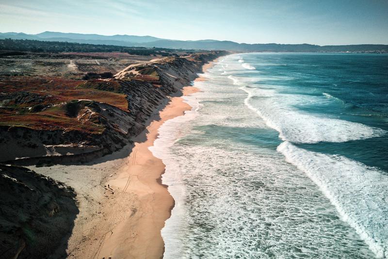 the oceans bigger.. #fortorddunesstatepark #california #djimavic #dji