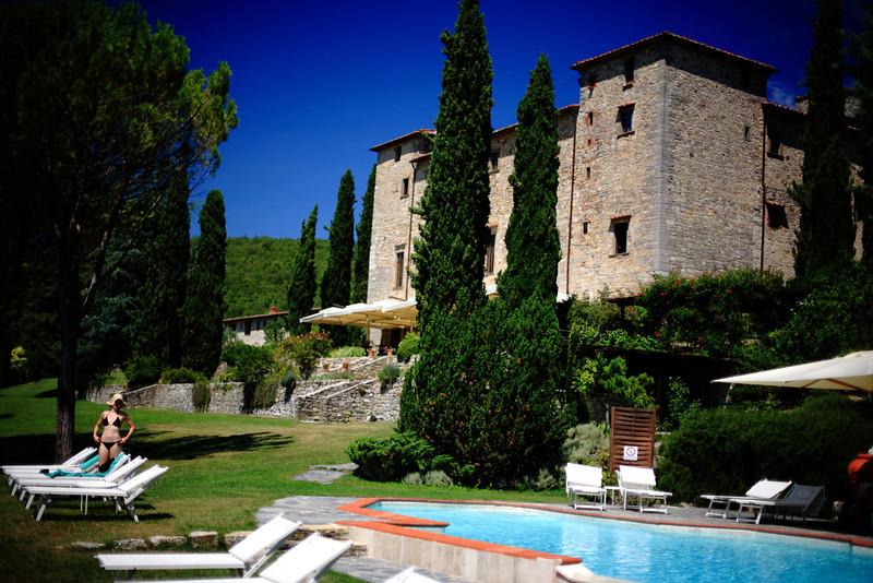 At Castello di Spaltenna.