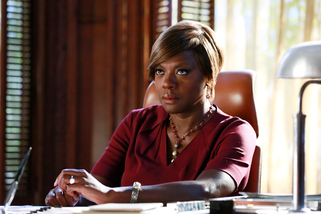 """. In this image released by ABC, Viola Davis appears in a scene from \""""How To Get Away With Murder.\"""" Davis was nominated for a Golden Globe for best actress in a drama series for her role on the show, on Thursday, Dec. 11, 2014. The 72nd annual Golden Globe awards will air on NBC on Sunday, Jan. 11. (AP Photo/ABC, Mitchell Haaseth)"""