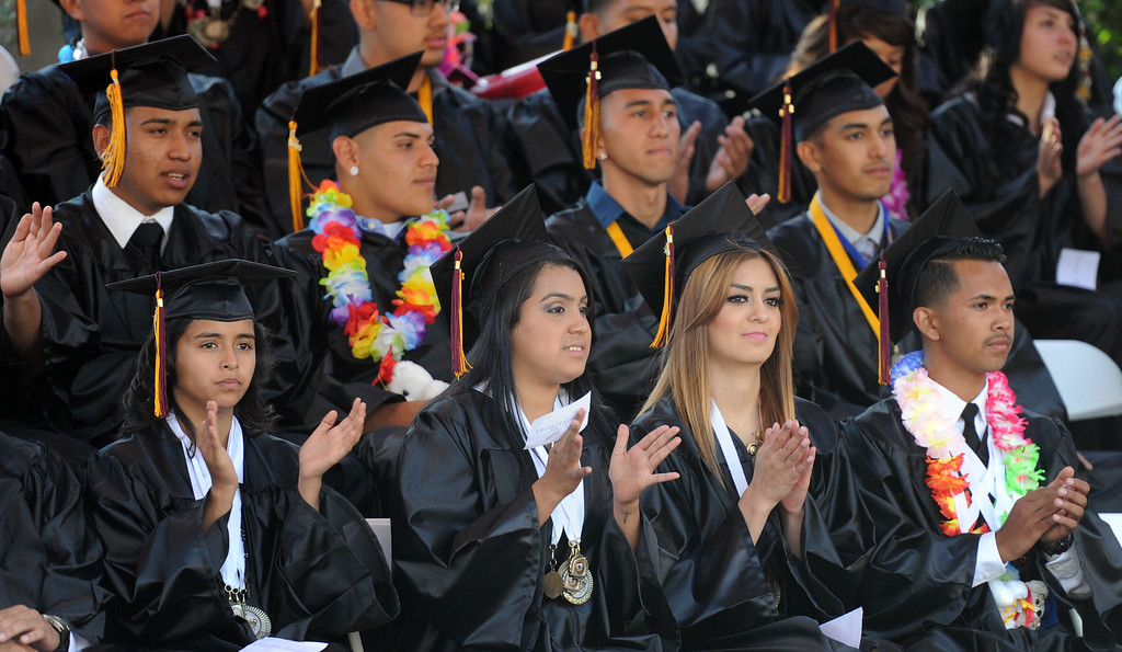 . The Vail High School commencement at Vail High School on Tuesday, June 18, 2013 in Montebello, Calif.