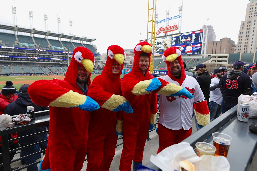 . Tim Phillis - The News-Herald The Indians\' home opener vs. the Royals on April 6.