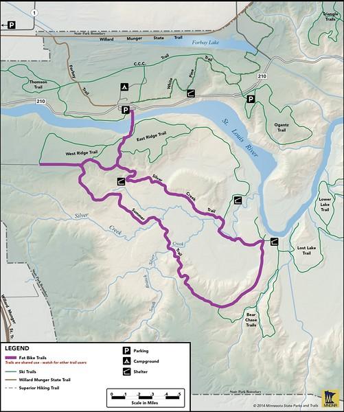 Jay Cooke State Park (Winter Bike Trail)