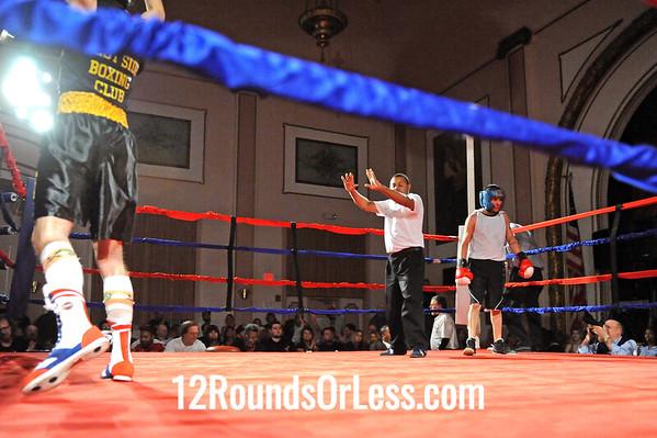 Bout 11 David Romano, West Side BC, Strongsville -vs- Johnathon Rosa, Rob Berto's BC, Cleveland, 141 lbs, Sub-Novice