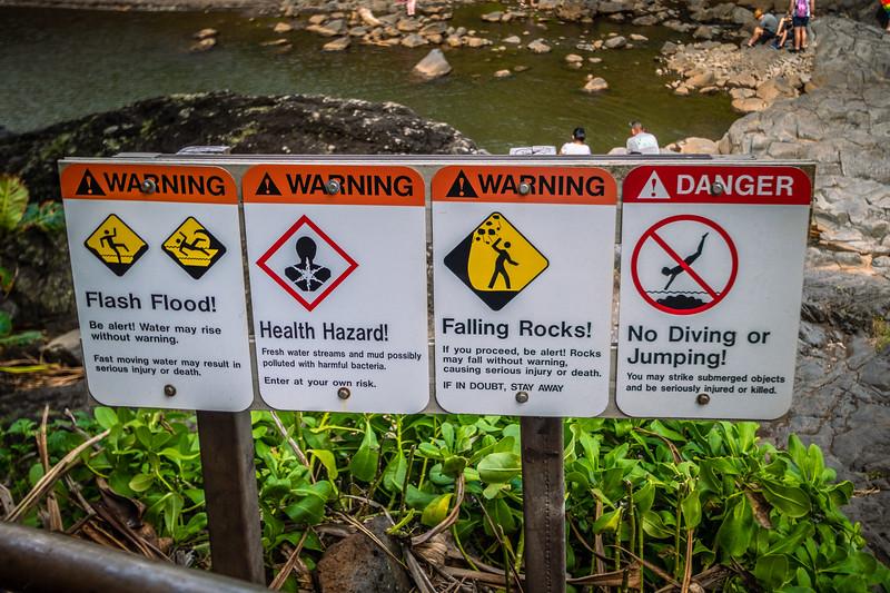 Hawaii likes their warning signs