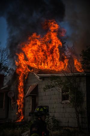 DFD Academy House Burn