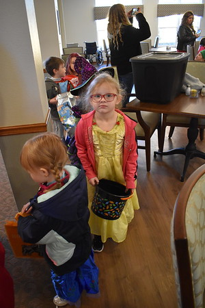 BWECC students trick or treat at Brookdale Assisted Living