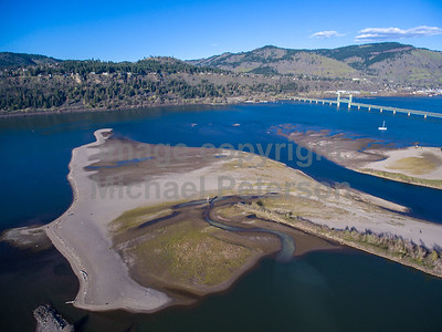 Columbia River Gorge Aerial