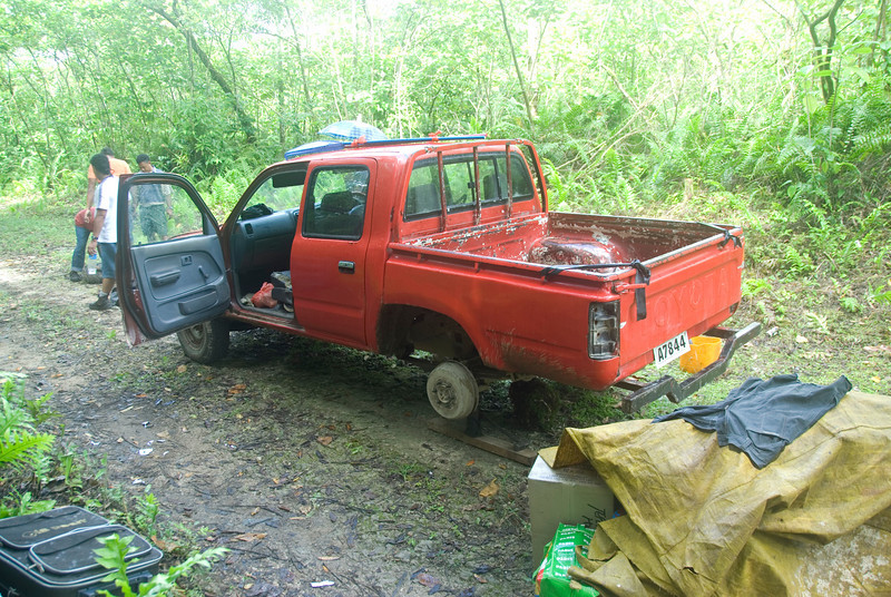 Flat Tire #1, Rennell Island - Solomon Islands