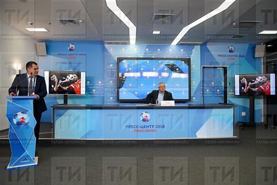 09.07.2018 Пресс-конференция председателя Федерации футбола РТ Александра Гусева (Салават Камалетдинов)