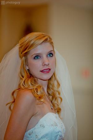 A beautiful bride at church during wedding-1