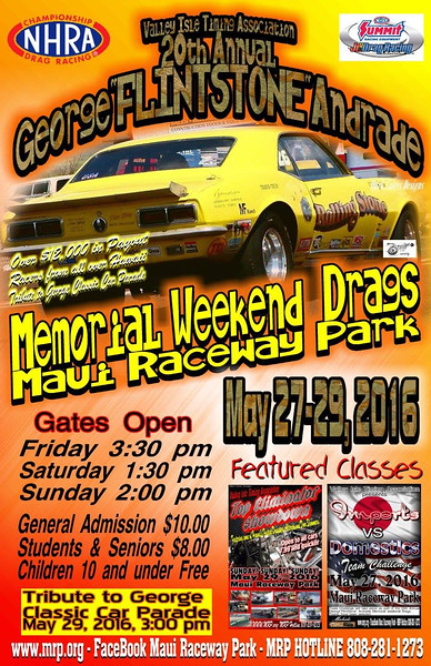 Drag Racing at Maui Raceway Park ~ May, 2016