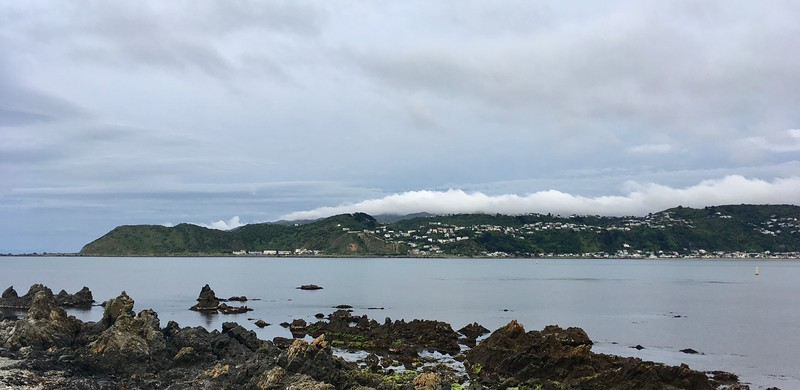 Clouds are gathering over Island Bay