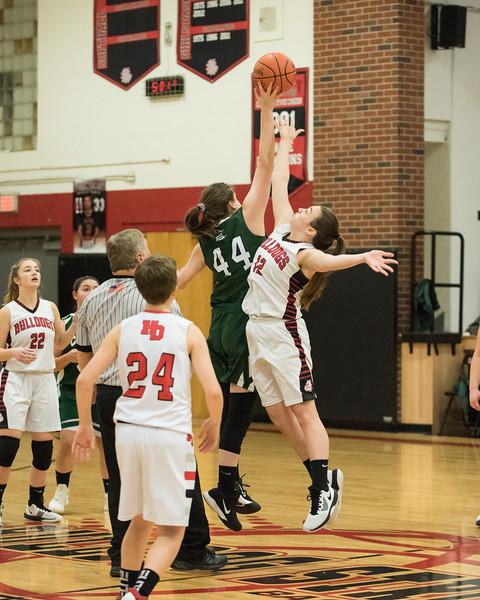 2020 JV Girls Basketball:  Hall-Dale vs Carrabec