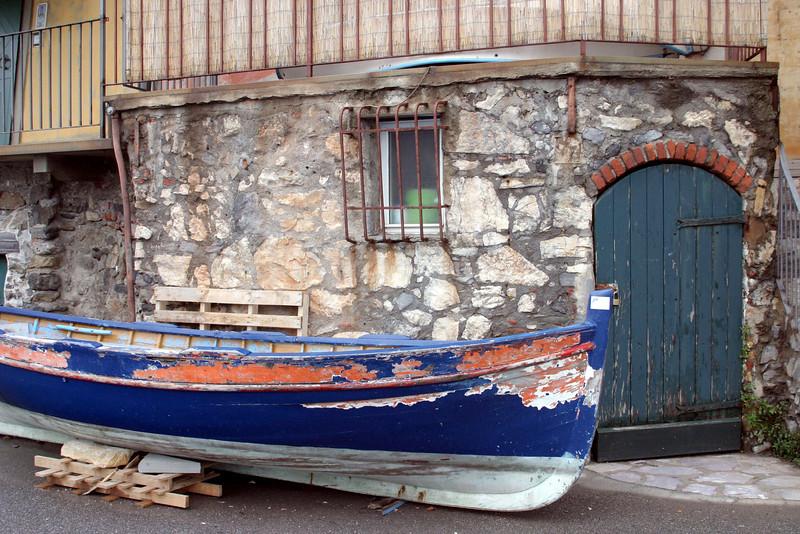 Blue Boat Cinque Terre, Italy