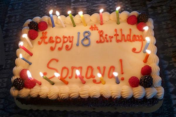 Somaya is 18!