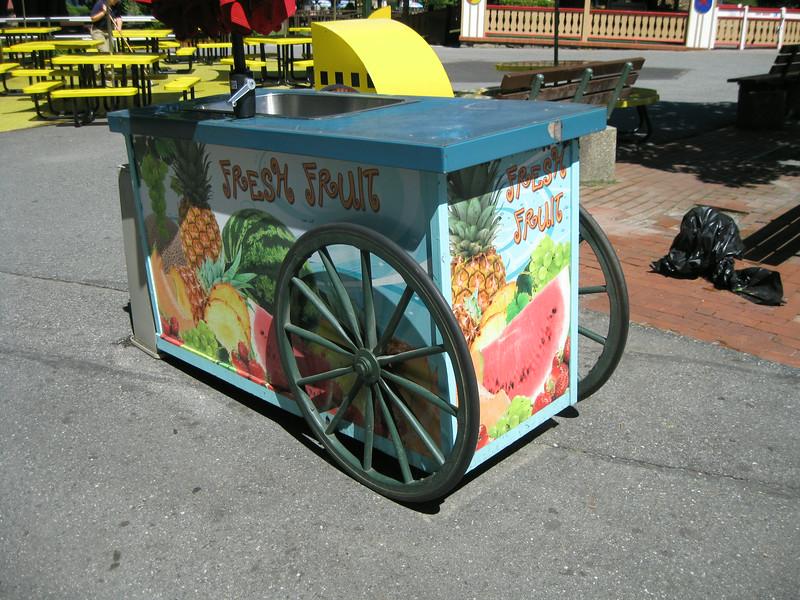 Fresh Fruit cart.