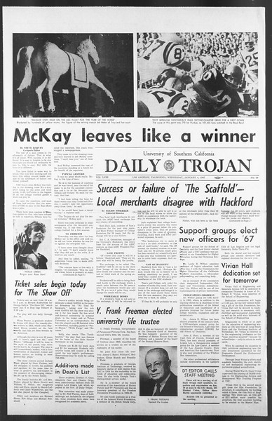 Daily Trojan, Vol. 58, No. 59, January 04, 1967