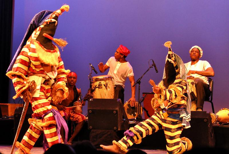 Los Muñequitos de Matanzas of Cuba, perform traditional Cuban folkloric dance at Symphony Space in New York City, May, 2011.