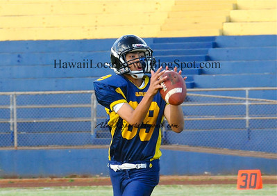 "05-27-11 Waipahu High School ""Blue & Gold"" Football ""Game"" with Scoccer Player of the Year OIA White ""Jahna Tacson"" 20-13"