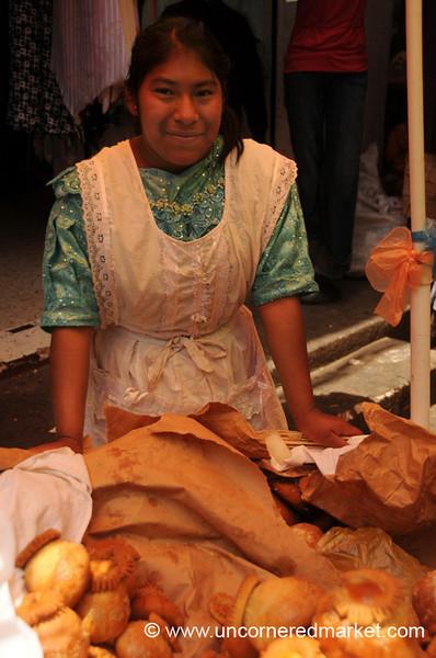 Selling Easter Bread at the Market - Xela, Guatemala