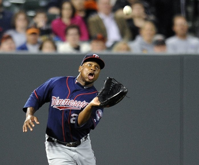 """. <p>3. (tie) DELMON YOUNG  <p>Former Twin unlikely to catch on with another team ... because he can�t catch anything. (unranked) <p><b><a href=\'http://www.twincities.com/sports/ci_23867405/delmon-young-former-twins-outfielder-released-by-phillies\' target=\""""_blank\""""> HUH?</a></b> <p>    (AP Photo/Nick Wass)"""