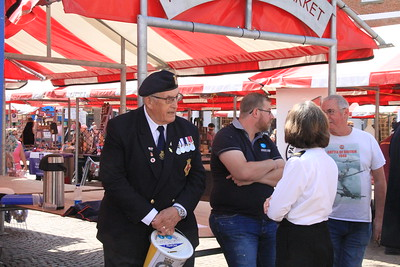 Ex Service men  photo Taken in Newark's Royal Market Square on June 23rd In the Royal Market Place Newark