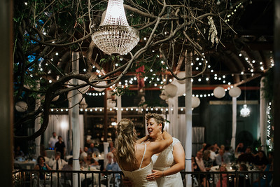 Intimate Lesbian Wedding at Houston's Avant Garden - Second Photographer for Ron Dillon