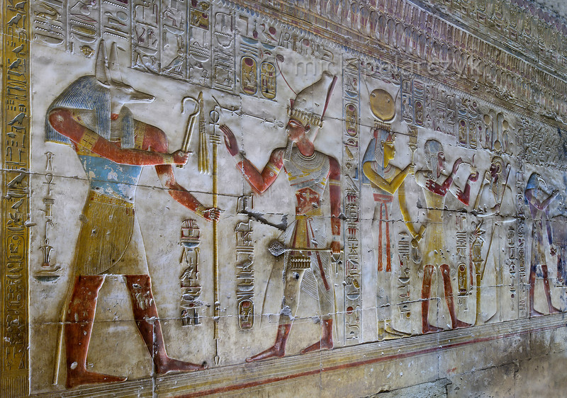 [Egypt 29929] 'West wall of Seti Shrine at Abydos'.