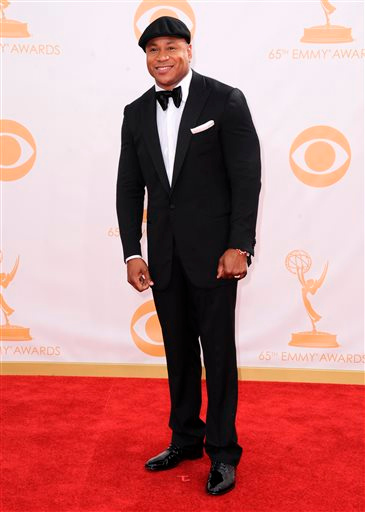 Description of . FILE - In this Sept. 22, 2013 file photo, LL Cool J arrives at the 65th Primetime Emmy Awards at Nokia Theatre, in Los Angeles.  The hall of fame announced its annual list of nominees Wednesday morning, Oct. 16, 2013, and half the field of 16 were first-time nominees, such as Nirvana, Linda Ronstadt, Peter Gabriel, Hall and Oates, The Replacements, and others.  KISS, LL Cool J, N.W.A., Cat Stevens, Deep Purple and Chic, up for the eighth time since 2003, are among the repeat nominees. (Photo by Jordan Strauss/Invision/AP, File)