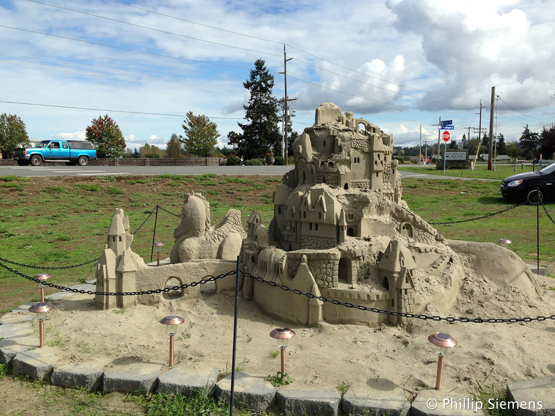 Decaying sand castle