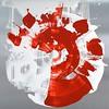 C-Iorillo, 24x24 dibond aluminum framed white