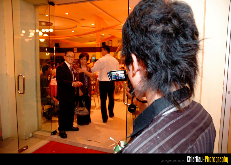 as the videographer for the event. :)