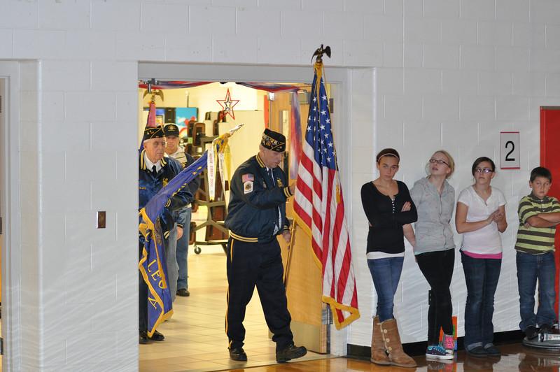 AV-W Veterans Day program