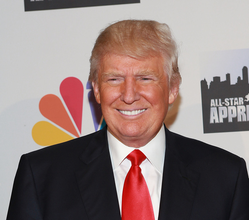 """. Donald Trump attends \""""All Star Celebrity Apprentice\"""" Finale at Cipriani 42nd Street on May 19, 2013 in New York City.  (Photo by Robin Marchant/Getty Images)"""