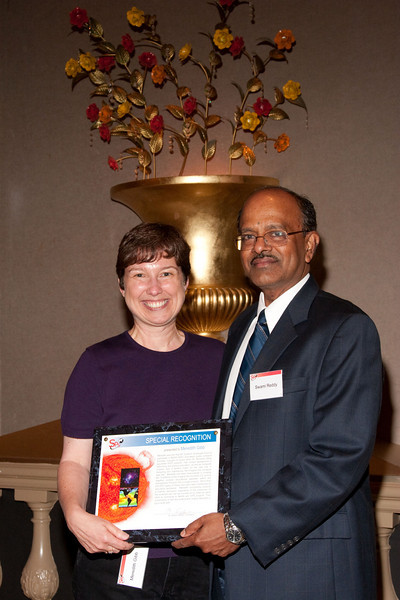 SpecialRecognition Award: Meredith Gibb with Swami Reddy -- SP Systems, Inc Fourth Annual Business Meeting & Luncheon, Greenbelt, MD