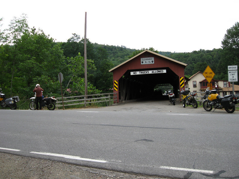 The Forksville covered bridge.