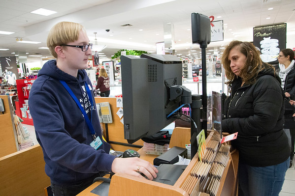 11/29/19 Wesley Bunnell   StaffrrShopping at Kohl's in Plainville during their Black Friday sale is Kristy Trumbley, This marks the fifth year where Trumbley along with immediate family and friend kick off the holiday season with a Black Friday shopping trip to Kohl's in Plainville followed up with a movie.